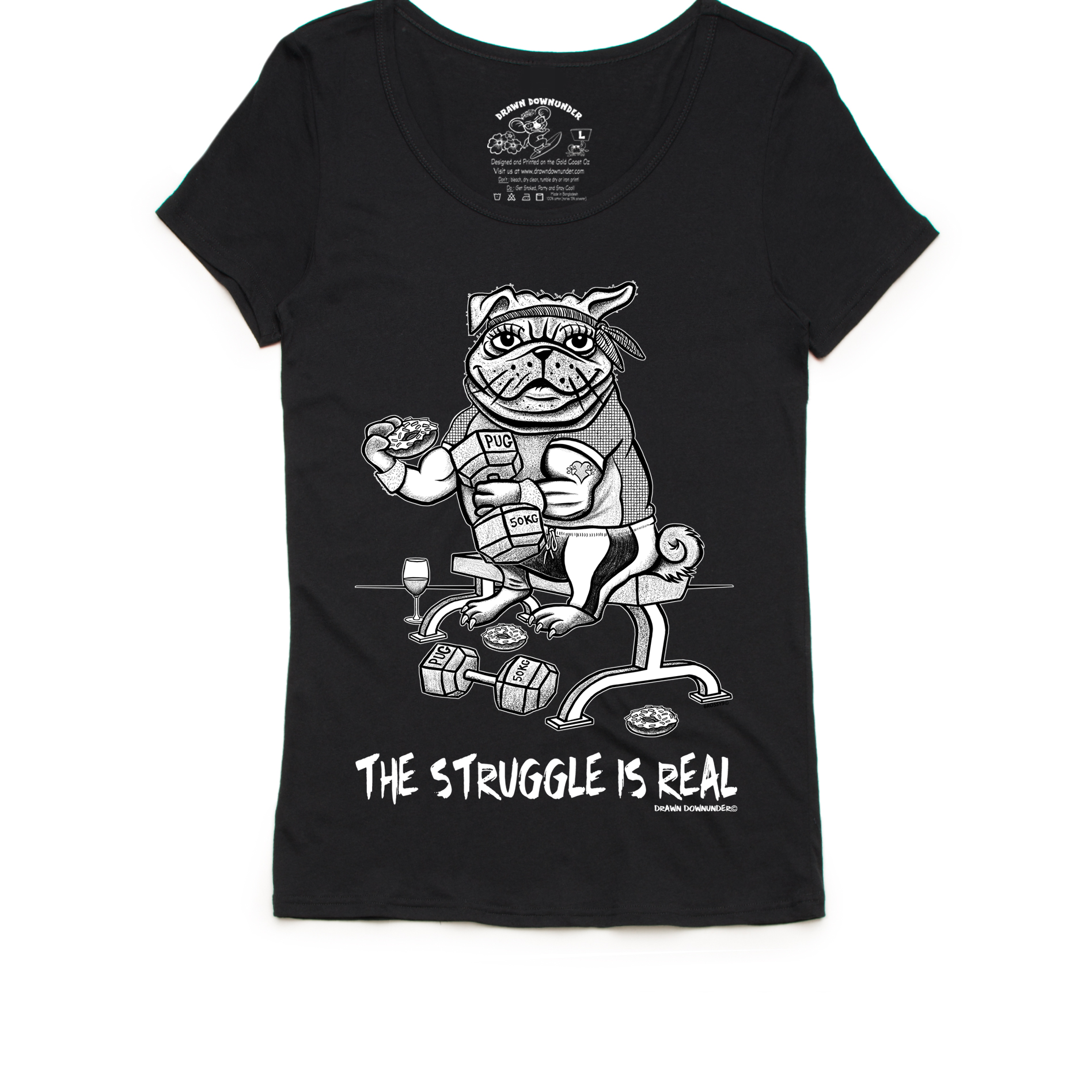 The Struggle is Real Ladies Scoop Neck T-Shirt