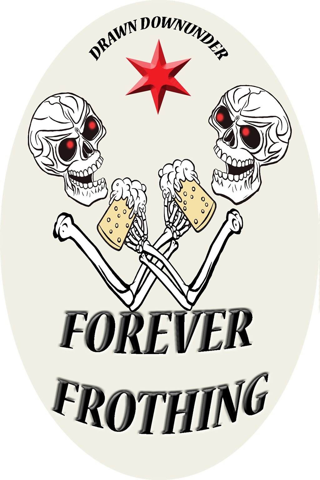 Forever Frothing Sticker