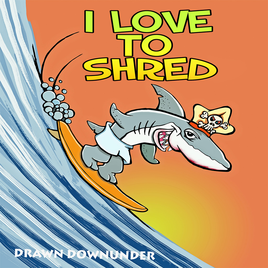 I Love to Shred Sticker