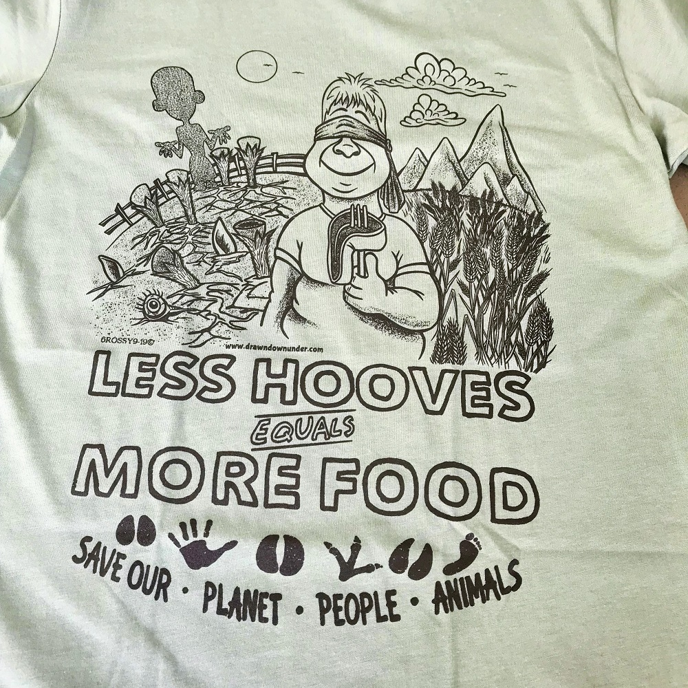 Less Hooves More Food T-Shirt