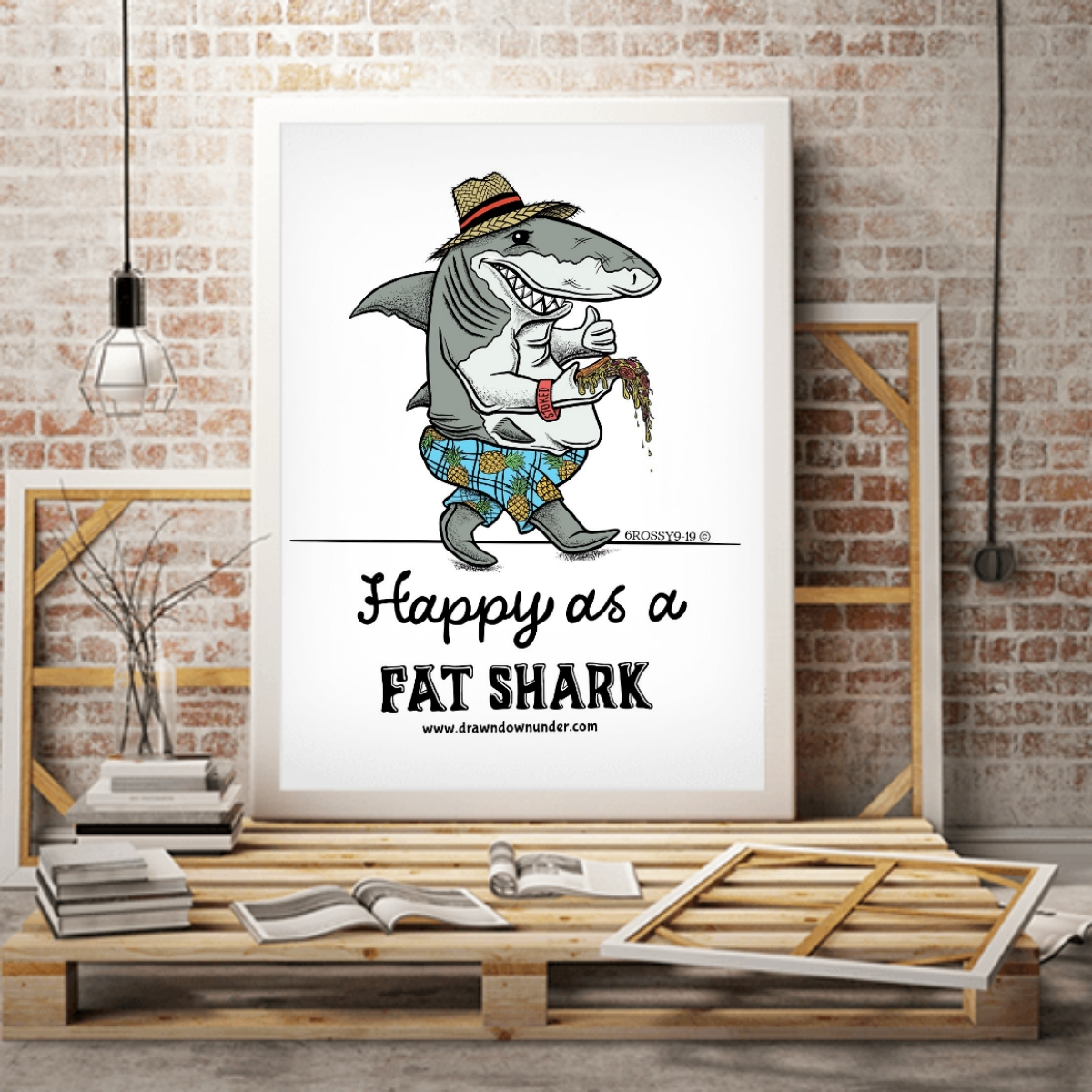 Happy as a Fat Shark – Print