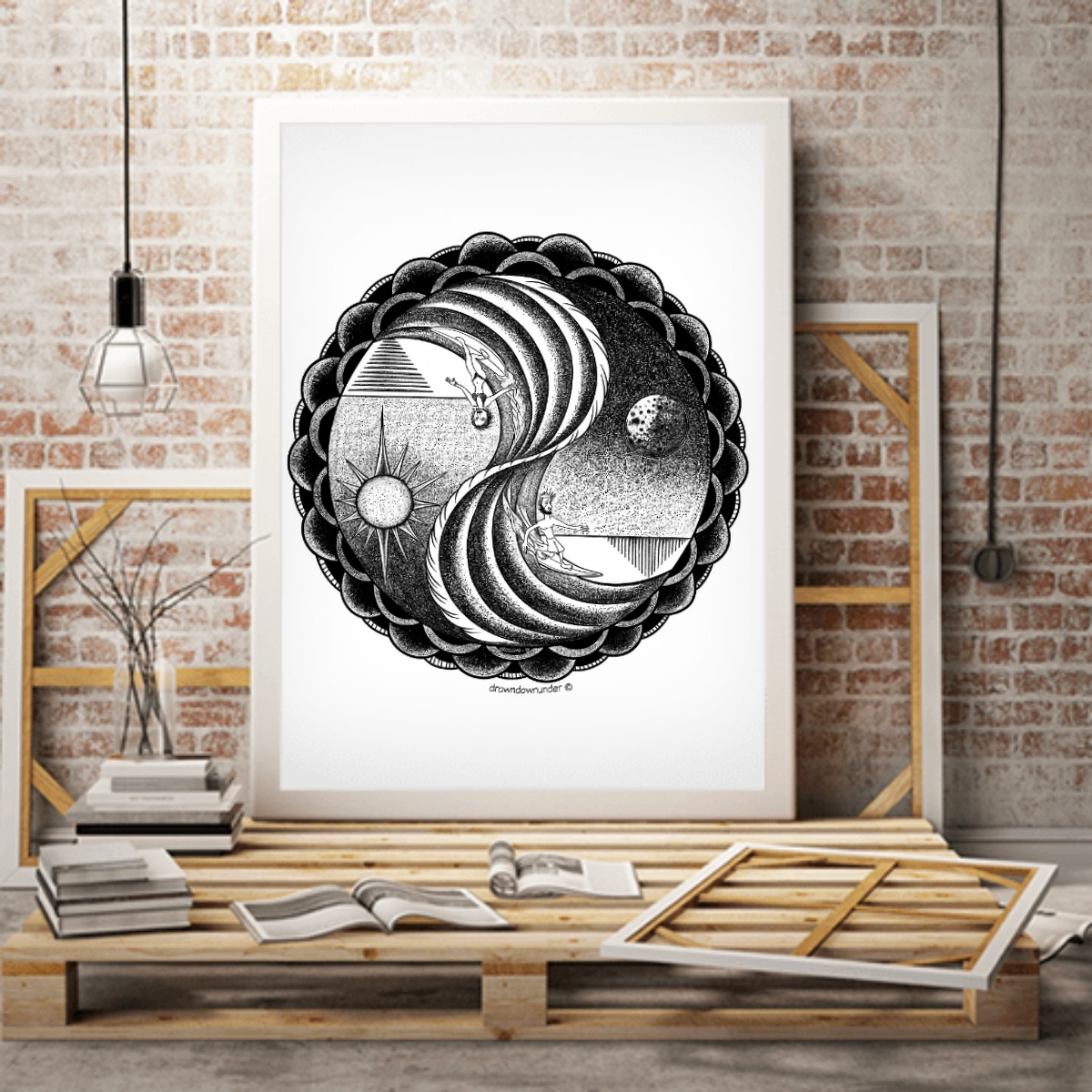 Yin and Yang Surf – Print