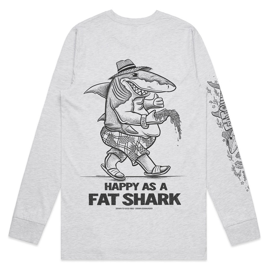 HAPPY AS A FAT SHARK LONG SLEEVE